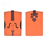 Violin Leather and Suede Credit Card Holder