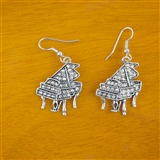 Piano Genuine Crystal Earrings