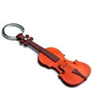 Violin Leather Keychain