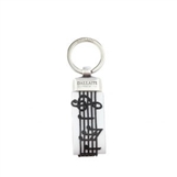 Musical Score Leather Keychain