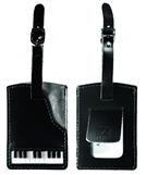 Leather and Suede Piano Luggage Tag