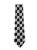 Handmade Tie - Black and White G-Clefs