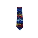 Handmade Tie - Navy with Music Notes