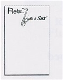 Relax with a Sax Note Pad (Individual)