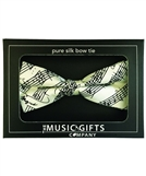 White Mozart Silk Bow Tie-Made in England