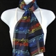 Fashion Scarf - Colorful Notes on Navy
