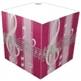Pink Striped Music Note Telephone Cube