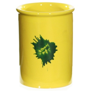 Yellow Ceramic Utensil Holder