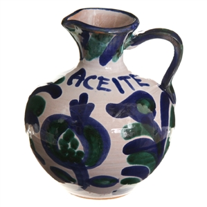 Hand-Painted Ceramic Olive Oil Cruet