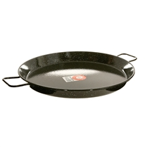 "20"" Enameled Steel Paella Pan"