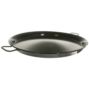 "28"" Enameled Steel Paella Pan"