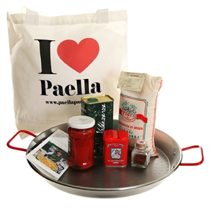 "Carbon Steel Gift Set with ""I Love Paella"" Bag"