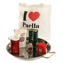 "Stainless Steel Paella Pan Gift Set with ""I Love Paella"" Bag"