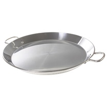 "16"" Stainless Flat Bottom Paella Pan"