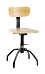 "Bevco 1200 Stationary Plywood Chair- Height Adjust 16""- 24"""