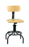 "Bevco 1411 w/ Painted Footring Swivel Plywood Chair- Height Adjust 20""- 28"""