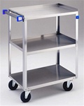 "Lakeside 322 Stainless Steel Cart - 33 3/4""L x  18 3/8""W x  33""H"