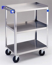 "Stainless Steel Cart - 33 3/4""L x  18 3/8""W x  33""H : Lakeside Industries: 322"
