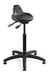 "Bevco 3505 Sit-Stand Polyurethane Seat, Seat Height Adjustment 22""-32"""