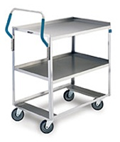 "Lakeside 6810 Ergo-One Stainless Steel Utility Cart 18""W x 27""L"