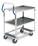 "Lakeside 6820 Ergo-One Stainless Steel Utility Cart  21""W x 35""L"