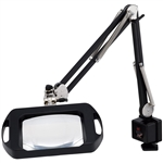 "O.C. White 72400-BY Vision-Lite Rectangular Magnifier - 43"" Reach - Table Edge Clamp"