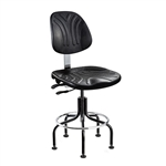 "Bevco 7601D-BK- Dura 7000D Series Ergonomic Chair w/ Articulating Tilt Seat and Back Polyurethane - 23""- 28""--Black"