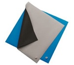 Botron B6123 Blue Two-Layer Rubber Table Mat 2'x3' .060