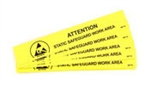 "Botron B6716 Static Safe Work Area Bench Sign 1""x6"" 10/PK"