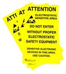 Botron B6717 Static Awareness Poster 5/PK