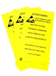 "Botron B6720 ESD Awareness Two Sided Hanging Sign 10""x 20""  3/PK"