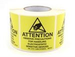 "Botron B6725  Awareness Label 5/8""x2"" 500/Roll"