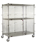 "Eagle Group CSC2448S 24"" x 48"" Full Size Mobile Security Unit - Stainless Steel"