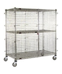 "Eagle Group CSC2460 24"" x 60"" Full Size Chrome Mobile Security Unit"