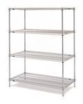 "Metro Industries EZ2460NC-4 Stationary Wire Shelving - Chrome 24"" x 60"" x 74"""