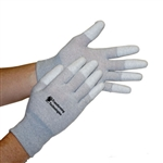 Transforming Technologies GL4500T ESD Nylon Finger Tip Covered Palm Coated Inspection Gloves