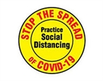 ErgoMat Social Distancing & Safety Signs 12""