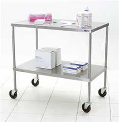 Eagle Group ITU2036 Stainless Steel Two Shelf Instrument Table