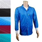 Transforming Technologies JKC9010 Fabric ESD Jackets Medium Weight Fabric With ESD Knit Cuff