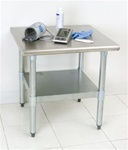 "Utility Stand - Stainless Steel  24"" x 24""."