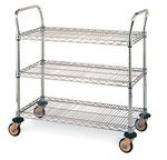 "Metro Industries MW711 Utility Cart 24"" x 36"" 39"""
