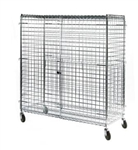 Security Cart - Lakeside Manufacturing - Enclosed Mobile Cart