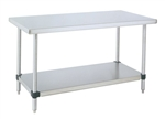 "Metro WT307FS Stainless Steel Worktable, Stationary with Soild Bottom Shelf 30"" x 72"" x 34"""