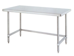"Metro WT307US Stainless Steel Worktable, Stationary with 3-Sided Frame 30"" x 72"" x 34""H"