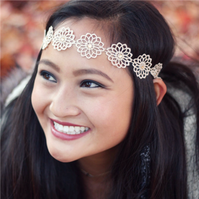 Headbands of Hope-Dainty Golden Flower