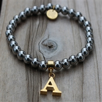 Rustic Cuff Stainless Initial Bracelet