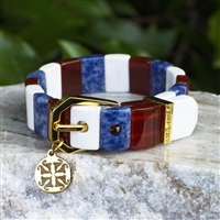 Rustic Cuff 4th of July-Charay in Gold SALE