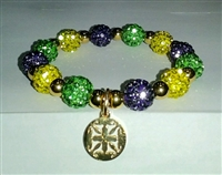 NEW-RUSTIC CUFF MARDI GRAS BOUTIQUE EXCLUSIVE KALEIDOSCOPE