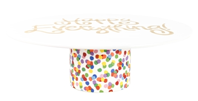 "Toss Happy Everything 14"" Cake Stand"