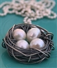 Messy Nests Pendant-1 or 2 pearls